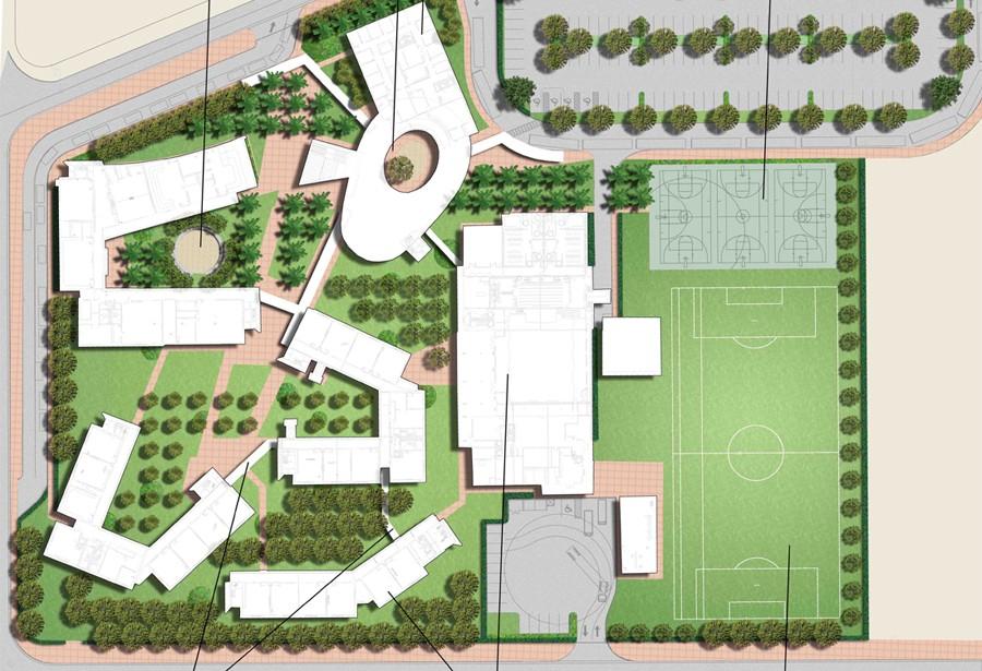 Prototype high schools savino miller landscape architects for School landscape design